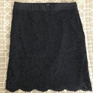 The Limited Navy lace skirt size 8